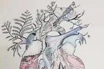 """被医学""""耽误""""的灵魂画手 大学生手绘人体器官"""