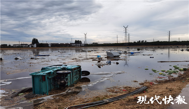 扬州高邮遭受疑似龙卷风袭击 243户民房受损4人轻伤
